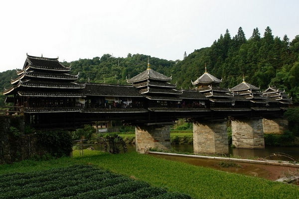 Chengyang Wind & Rain Bridge in Sanjiang